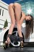 Nina James and her BMW