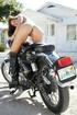 Caprice on bike